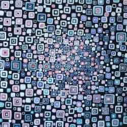 """Hypnotic II"", huile, 60x60 cm, 2014."