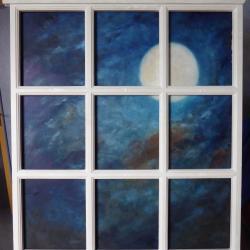 Soir de pleine lune,  huile  5ème Biennale de Saint-Brieuc