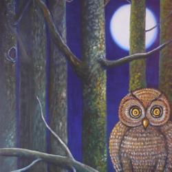Les yeux de la nuit, huile sur toile, 81x65 cm
