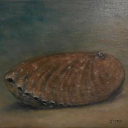 Ormeau échoué, huile, 30x24 cm, 2016