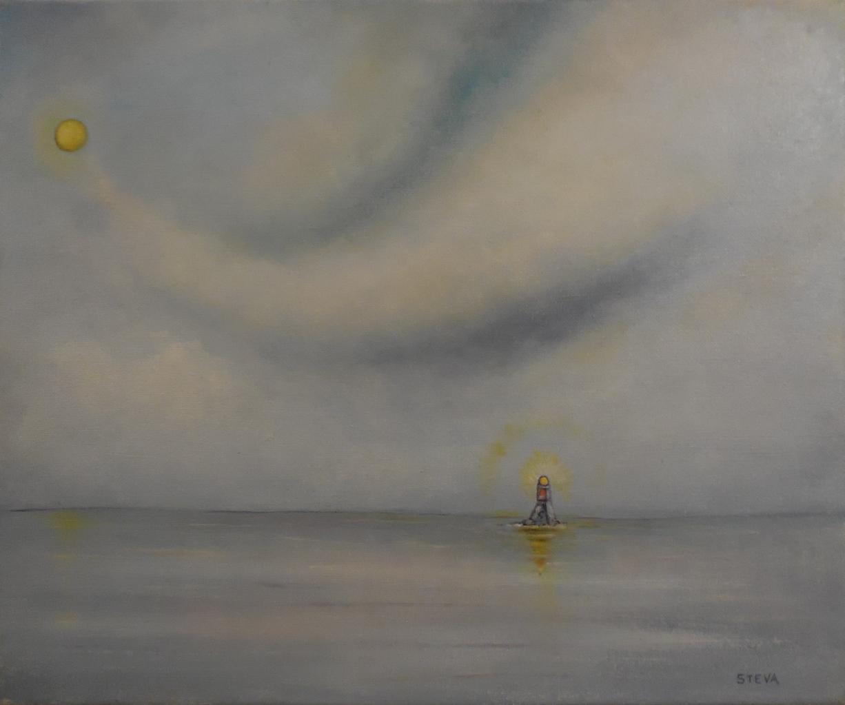 Solitude marine , huile, 46x38