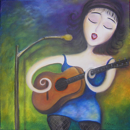 Guitariste et chanteuse- Vendu
