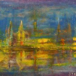 Impression vénitienne , huile,24x18 cm, collection particulière