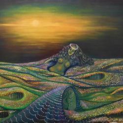La naissance de Gaïa, huile sur toile 92x73 cm, collection personnelle