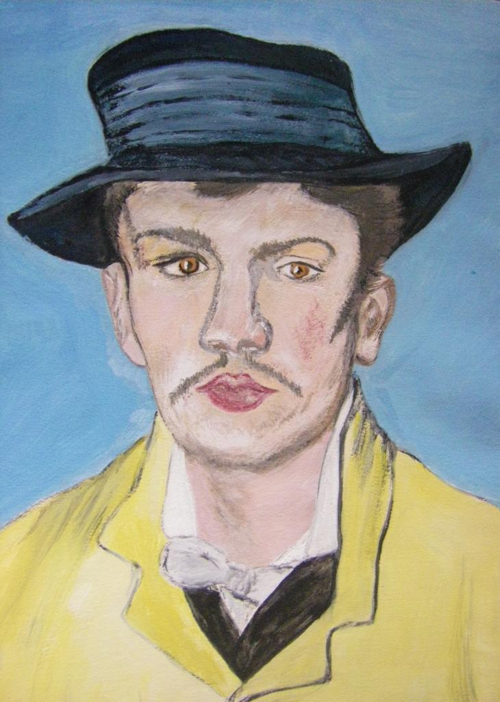Armand Roullin, d'après Van Gogh, gouache,  1987, format 21x29 cm