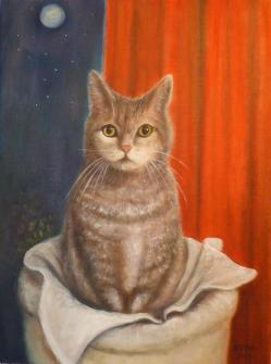 Je m'appelle Mandie, huile sur toile format 30x40 cm