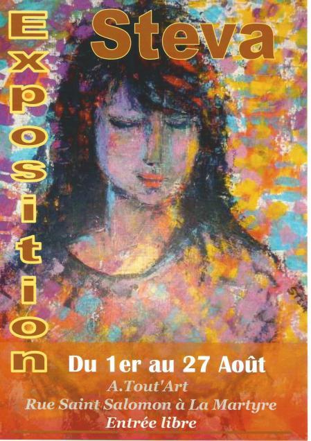 Affiche expo la martyre aout 2017