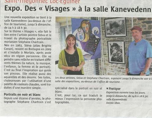 Article le Telegramme, exposition de saint-Thégonnec