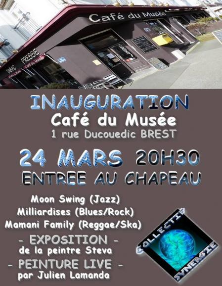 Cafe du musee brest inauguration vendredi 24 mars 2017