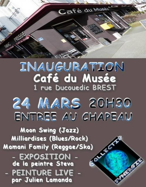 Cafe du musee brest inauguration vendredi 24 mars 2017