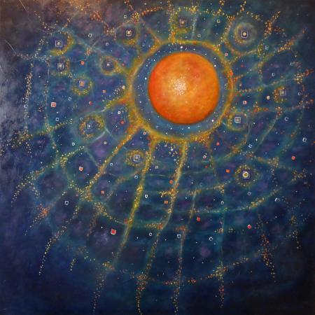 La terre est bleue comme une orange huile 80x80 cm 2018