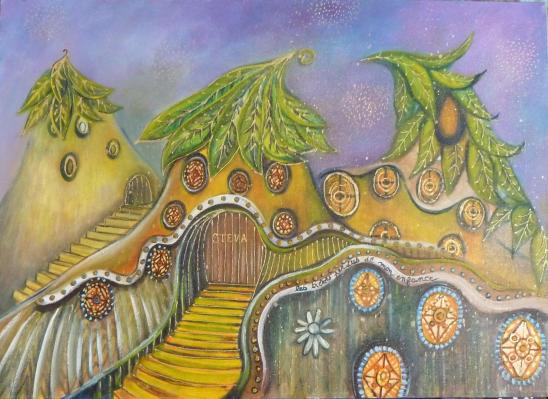Les Trésors perdus de mon Enfance, acrylique 2009