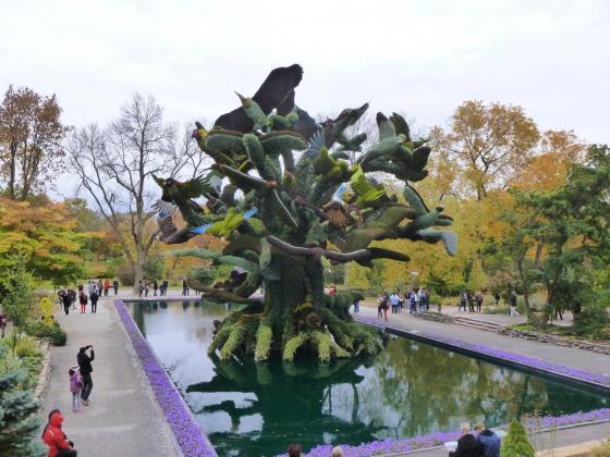 L'arbre aux oiseaux mosaïculture