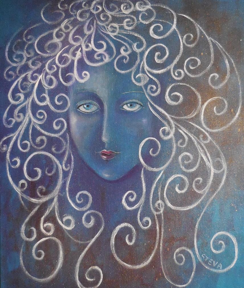 Mélancolie ou portrait en bleu