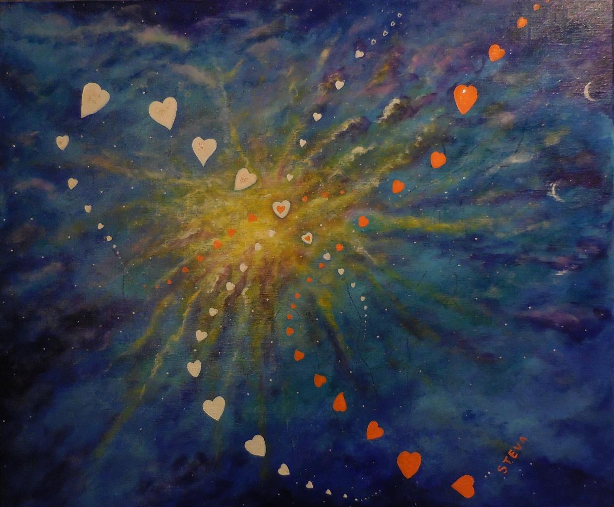 Hauts les coeurs! 50x70 cm 2015