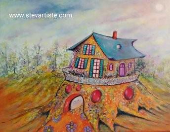 la maison d'une artiste 40x30 cm 2020