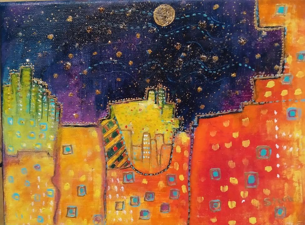 Nuit sur la ville (CP)