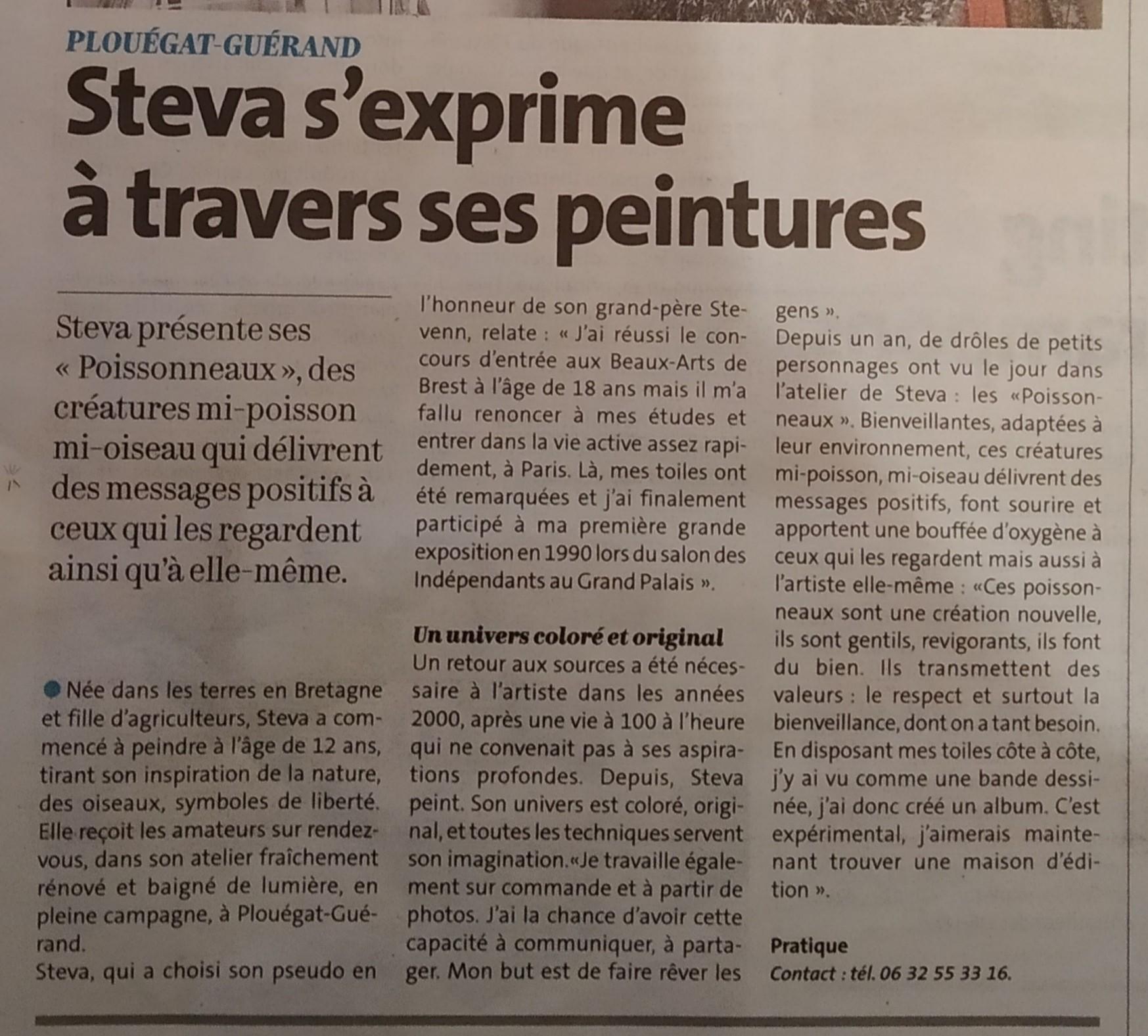 Article Stéphanie Pépé pour le télégramme