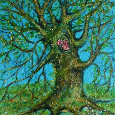 L arbre de monsieur poissonneau comedien 35x27 cm