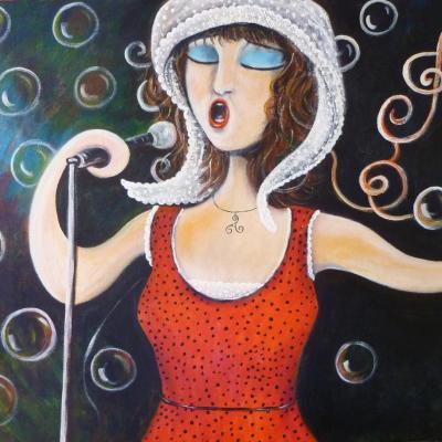La cantatrice avril 2014- acrylique 2011, CP