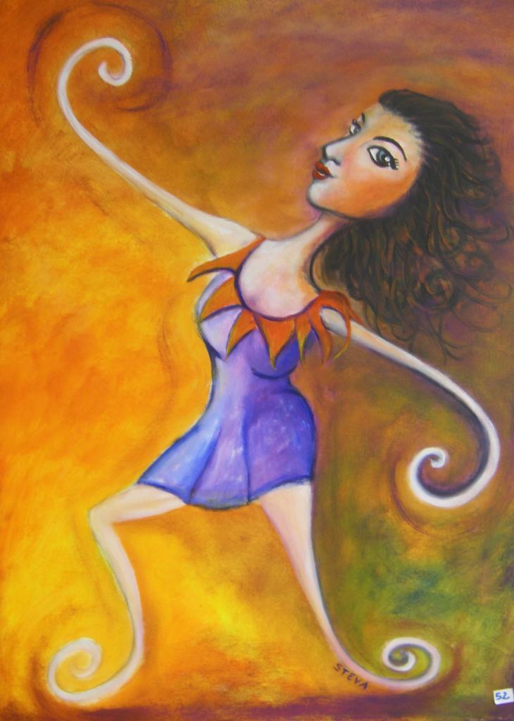 La danseuse contorsionniste, acrylique 2010, vendu
