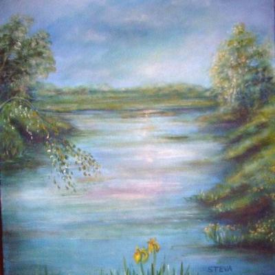 Printemps sur l'étang, collection privée