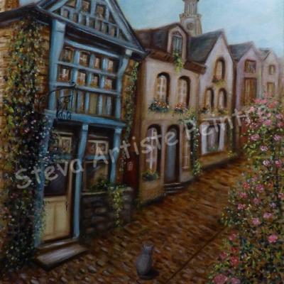 Rue du Jerzual, huile sur toile 40x50 cm Commande 2019