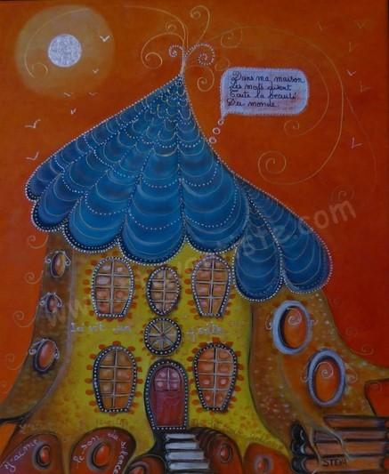 La maison du poète, 46x38 cm 2020