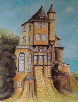 Villa belza Biarritz (interpretation libre)  2020. Vendue Allemagne