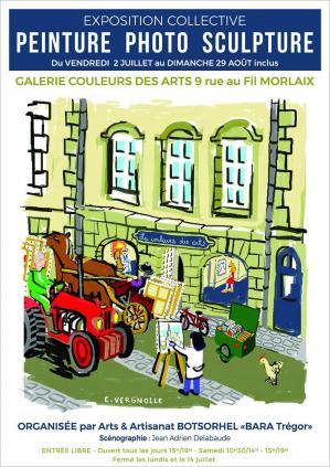 Affiche exposition galerie Couleur des Arts à Morlaix