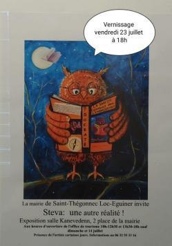 Affiche vernissage Saint-Thégonnec 23 juillet