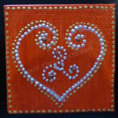 Coeur magnet5x5 cm