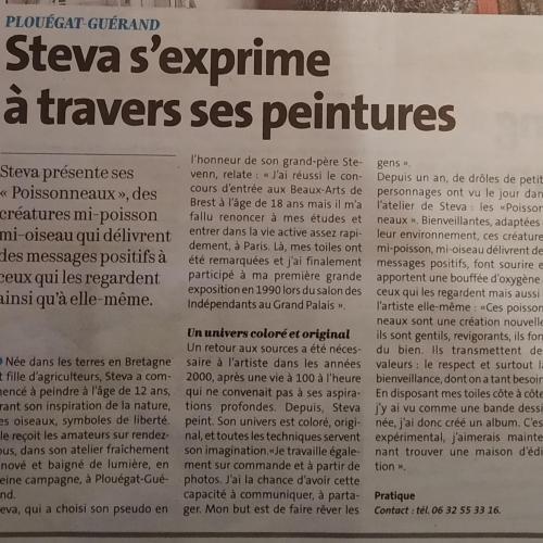 article, Stephanie Pépe pour Le Télégramme