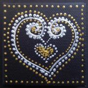 Magnet coeur double