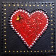Magnet coeur et etoile a gauche