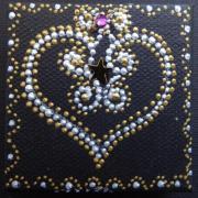 Magnet coeur et volutes