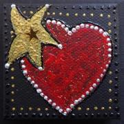 Magnet coeur etoile