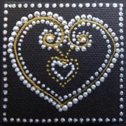 Magnet double coeur n 2