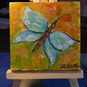 Steva papillon bleu